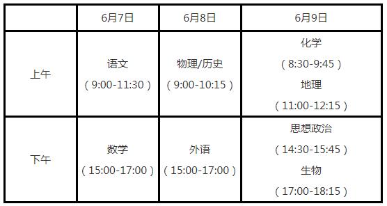 江苏2021高考考试安排和录取工作实施方案